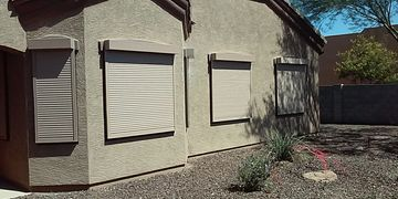 Rolling Shutters for windows, doors and patio enclosures.