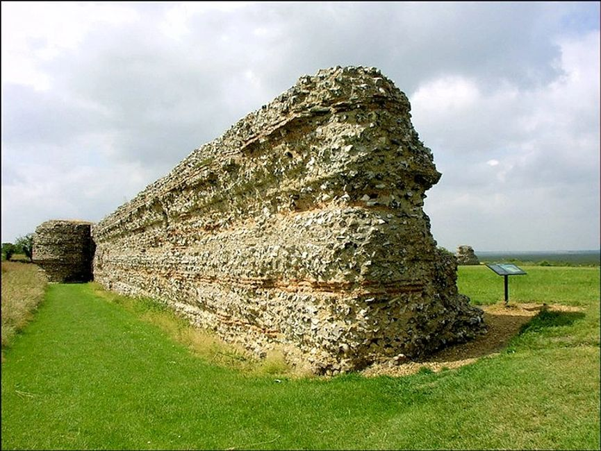Burgh Roman Castle. built to keep German tribes from entering Britain via the River Yare