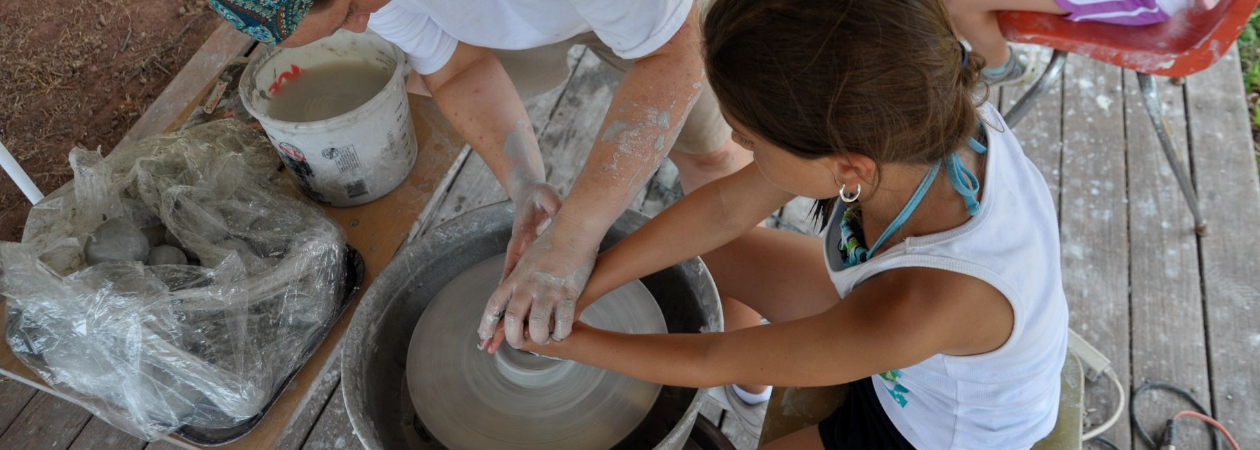 Summer camp pottery lessons near North Wales