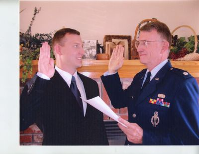 Charles Mark Bennett in October 2006 who is now a Lieutenant Colonel USAF Judge Advocate.