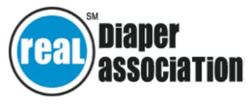 Real Diaper Association logo for parent and families cloth diapering infants and newborns naturally