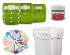 Diapering Accessories, Diaper Pail, Diaper Covers, Snap Velcro, Diaper Rash Cream, Safe Snappi Clips