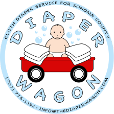 Sonoma County sustainable diaper service diaper wagon logo magnet