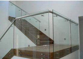 Commercial glass stairs railing