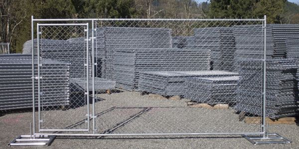 6'x12' temporary fence panel pedestrian man gate