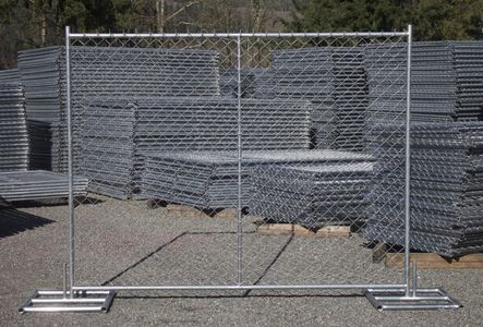 6'x8' chain link construction fence panels