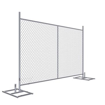 Vertical Temporary chain link fence panels 6'x12' 4' 8' Height Optional