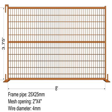 3.75' temporary fence panels