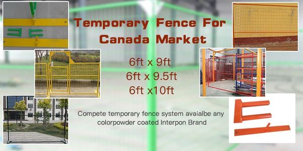 Canadan Standard Temporary Fence 6'x10' and 6'x9.5' construction fence panesl