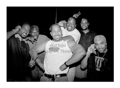 DJ Breakout, Grand Wizard Theodore, Dot-A-Rock, Waterbed Kev, Master Rob, DJ Kool Herc, NYC 1996