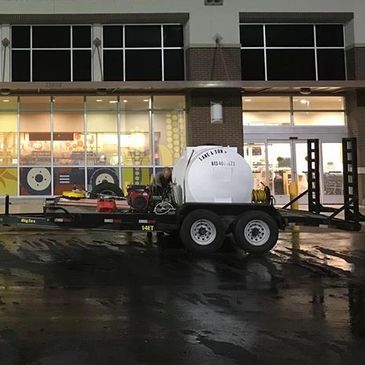 Commercial pressure washing for Lane and Son's Pressure Washing