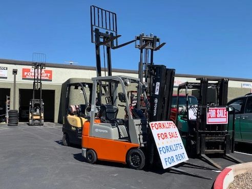 Quality used lift trucks, discount forklifts, equipment dealer, section 179 tax break, free forklift
