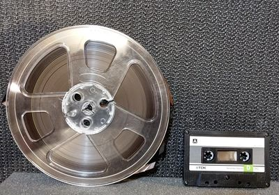 Reel-to-reel and cassette tape Banded Moon Arts & Media, Kansas City, can restore / transfer for you