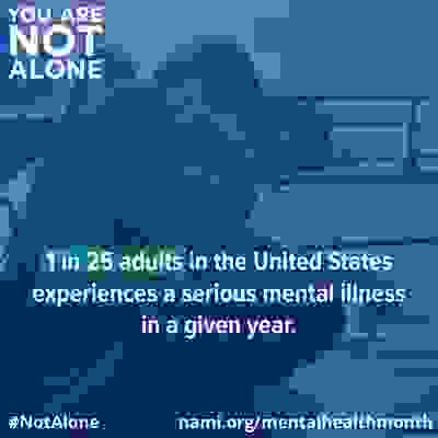 YOU ARE NOT ALONE, NAMI, mental illness, mental health