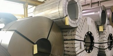 Steel coils at Ponce Metals Inc can weigh into the tons, outweighing elephants and cars.