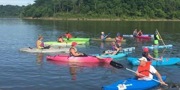 Kayaks, boats, races, water, Taylorsville Lake, Spencer County, State park