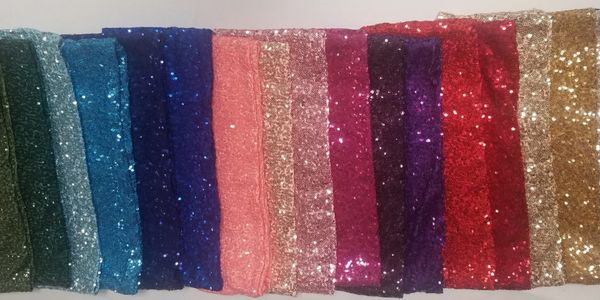 color sequin chair bands