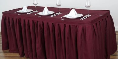 event central,special order skirt,table skirt,white skirt,tablecloth,party supplies,party rental