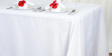 event central,white tablecloth,rectangle tablecloth,round tablecloth,90X132,90X156,120 round,90 roun