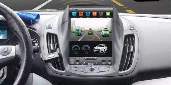 Tesla Style Vertical Screen Android Car Multimedia For Ford Focus, Kuga, Edge, Mondeo, Ranger, etc.
