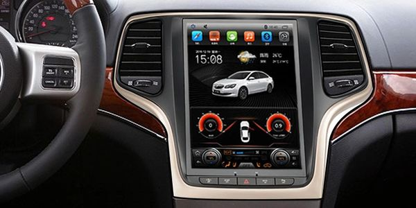 Car In Dash Tesla Style Vertical Screen Car Multimedia Navigation, Android 9.1 System, Big Screen