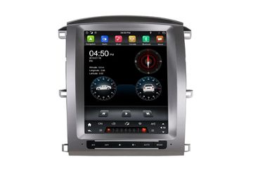 12.1 Inch Android Vertical Screen Car Radio Multimedia CarPlay Android Auto Toyota Land Cruiser 2003