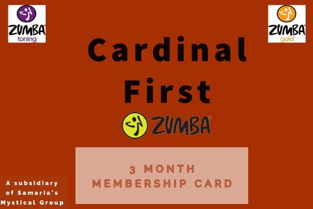 Cardinal First Zumba monthly membership packages