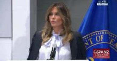 "FEATURED CLIPS FROM THIS VIDEO   9:18 AM First Lady Warns of ""Destructive and Harmful"" Effects of So"