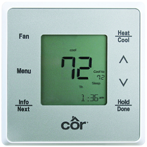 Browes Ron Ball Refrigeration's conventional thermostats.