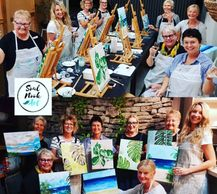 paint and sip noosa  paint and sip sunshine coast noosa arts and crafts hens party noosa  things to