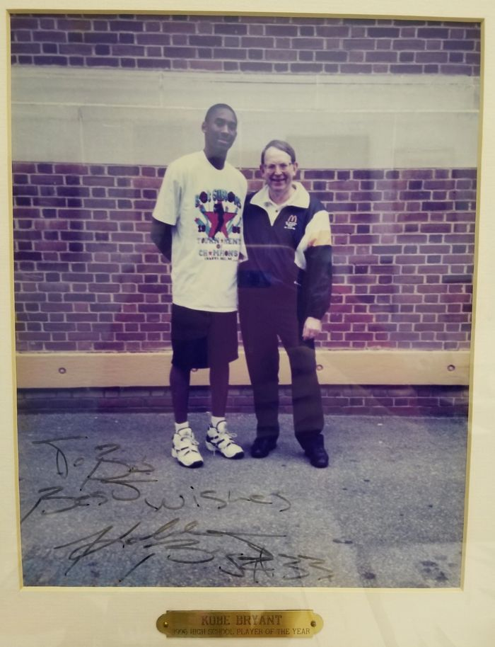 Bob Gibbons with the great Kobe Bryant on July 2, 1995 at ABCD Camp in Teaneck, NJ.