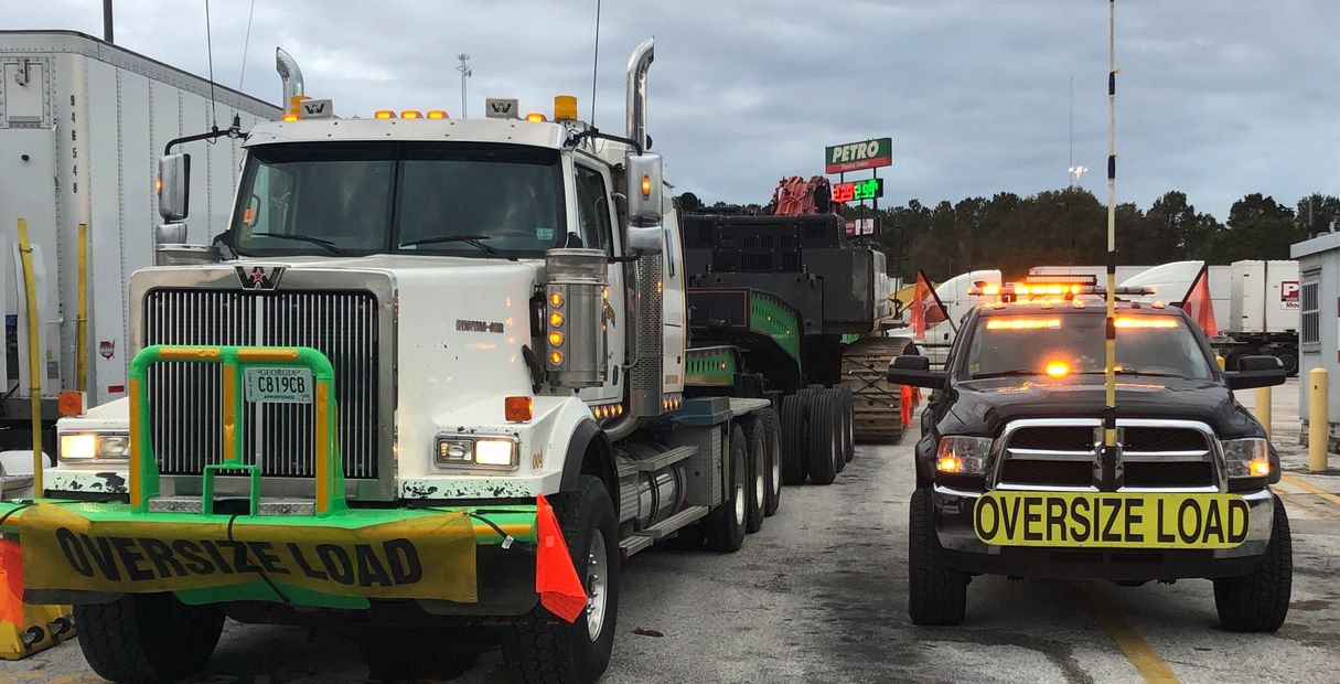 Excavator escorted from Tampa, FL to Mississippi