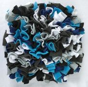 black, white, gray, blue snuffle mat