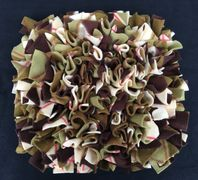 green and brown plaid snuffle mat