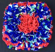 shark print, red, green, snuffle mat