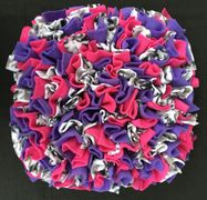 pink, purple, black, white, hounds tooth snuffle mat