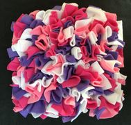 pink, purple, white snuffle mat