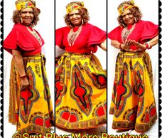 Golden Yellow 100% Cotton African Skirt Set