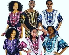 Men, Women and Children Dashiki Tops. Assorted Colors. Sizes: Kids, Missy, Curvy Plus & Big and Tall