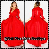 Red Marvelous Maxi  Red Beautiful Flowy Maxi Dress Designed for a Special Event.  Color: Red Size: S