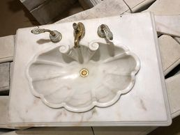 Antique Sink  Sherle Wagner Sink  Marble Sink  Designer Bathroom