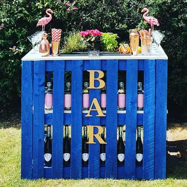 Bar hire - we have mobile bars available for hire.perfect for a garden party.