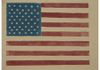 WOODCUT FLAG ON TAN PAPER, 9/11