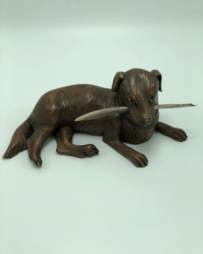 Victorian greyhound black forest carvings carved animals