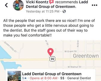 dentist in greentown, affordable dentist, good dentist, greentown dentist, ladd dental, dentures dds