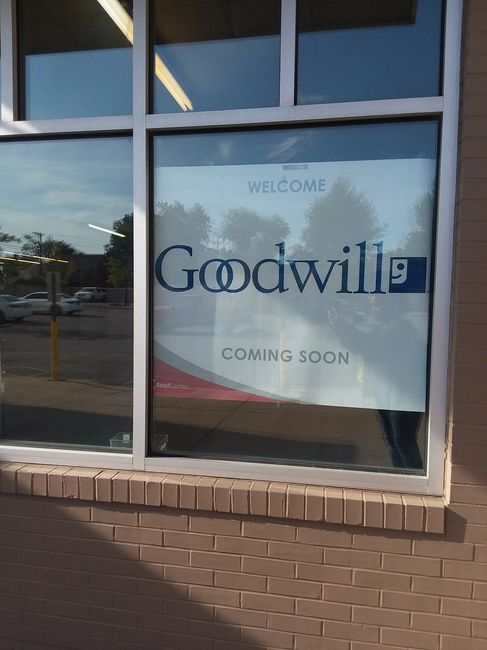 Goodwill South Euclid Ohio coming soon sign