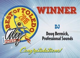 The Toledo City Paper chooses Professional Sounds as the best DJ Company in Toledo.