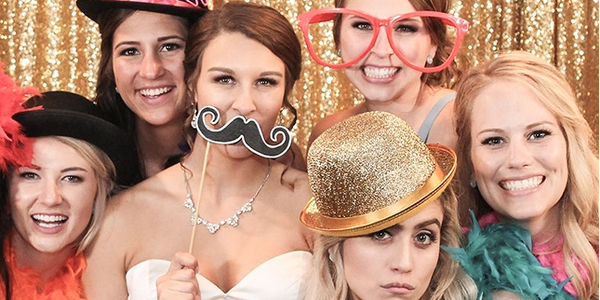 Photo booths, props, and 3 different photo booth packages from Professional Sounds.