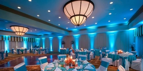 Digital uplighting for your wedding reception, party, or corporate event from Professional Sounds.