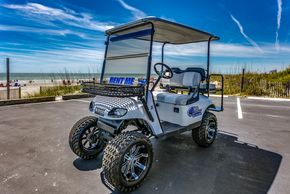 4 Passenger Lifted Custom Upgraded Golf Cart Rental